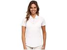 adidas Golf Essentials Heather Short Sleeve Polo (White)