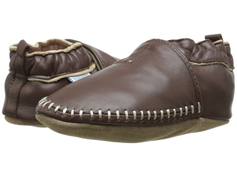 Robeez Premuim Leather Classic Moccasin Soft Sole (Infant/Toddler) - Brown