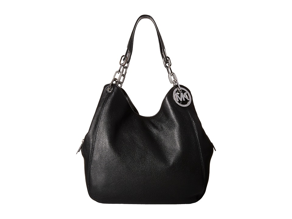MICHAEL Michael Kors - Fulton Large Shoulder Tote (Black) Tote Handbags