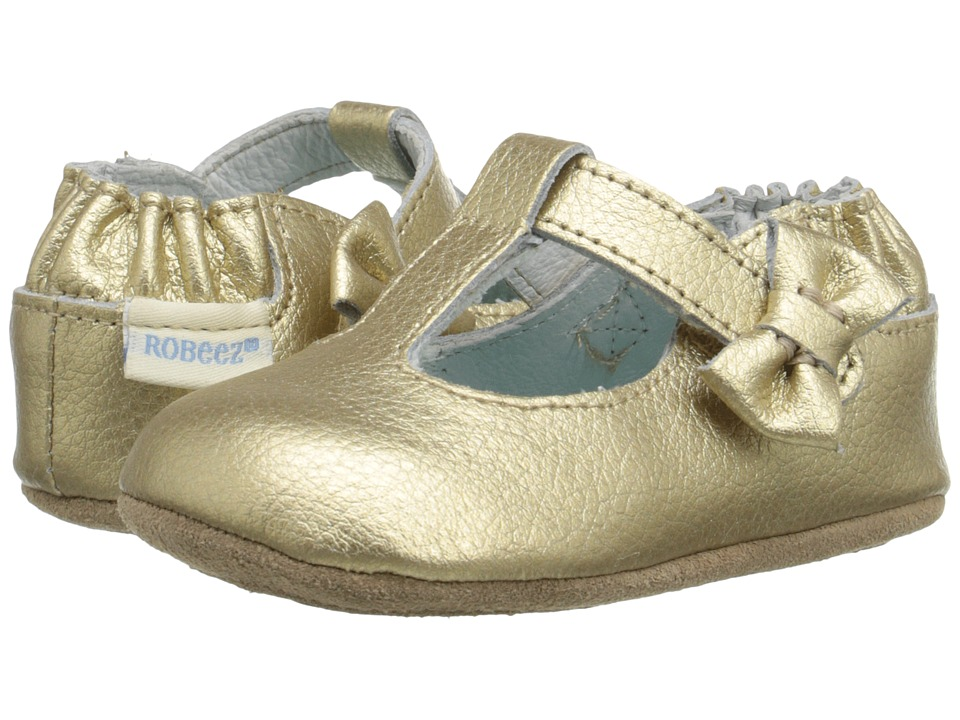 Robeez - Glamour Grace Mini Shoez (Infant/Toddler) (Gold) Girls Shoes