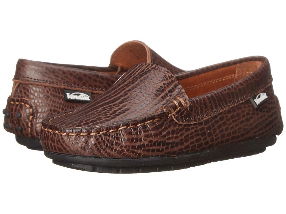 Venettini Kids 55 Gordy Toddler/Little Kid/Big Kid Brown Safari Leather Boys Shoes