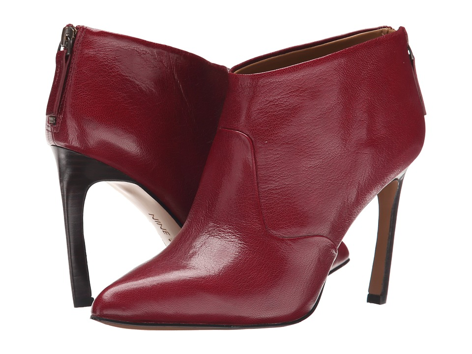 Nine West - Swarm (Dark Red Leather) Women's Pull-on Boots