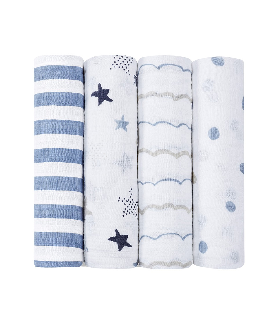aden anais Classic Swaddling 4 Pack Rock Star Sheets Bedding