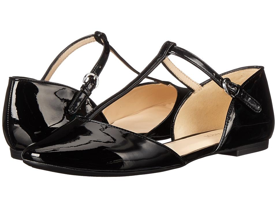 Nine West - Zenda Black Synthetic Womens Flat Shoes $79.00 AT vintagedancer.com