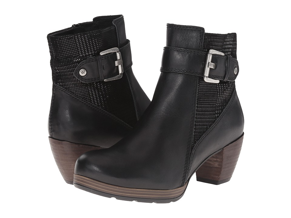 Wolky Pristina Black Mighty/Dessin Womens Zip Boots