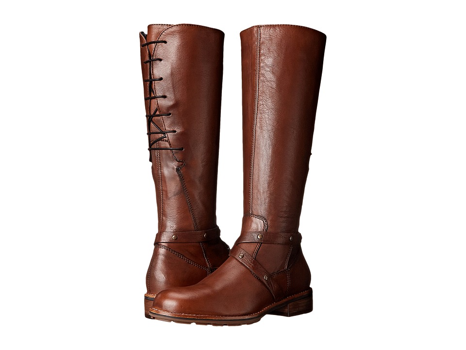 Wolky Belmore (Cognac Velvet Leather) Women