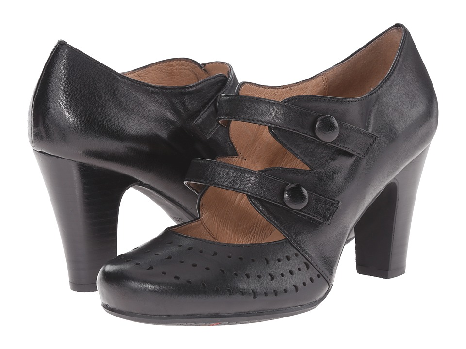 Miz Mooz - Judy Black Womens 1-2 inch heel Shoes $129.95 AT vintagedancer.com