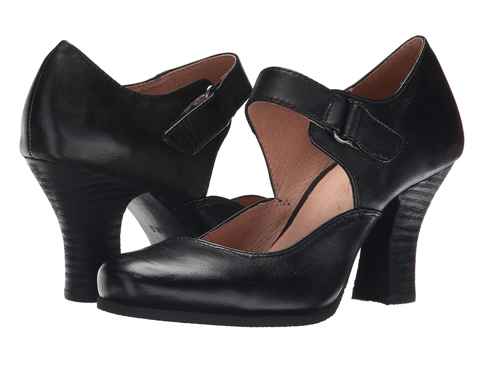 1920s Style Shoes Miz Mooz - Kora Black Womens 1-2 inch heel Shoes $120.00 AT vintagedancer.com