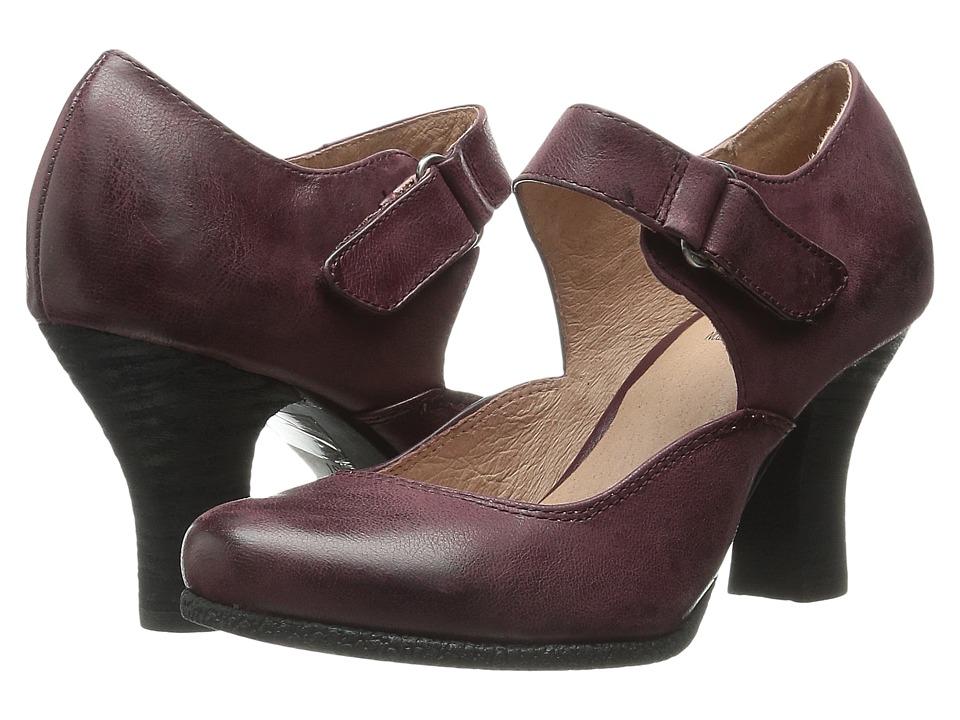 Miz Mooz - Kora Wine Womens 1-2 inch heel Shoes $119.95 AT vintagedancer.com