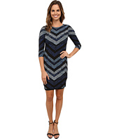 Karen Kane - Cerulean Chevron Sheath Dress