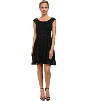 Alejandra Sky - Glitter Stretch Lace Skater Dress