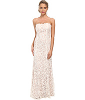 Alejandra Sky - Strapless Lace Gown w/ Train Back Hem