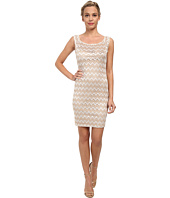 Alejandra Sky - Zig Zag Lace Scoop Neck Dress