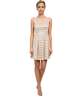 Alejandra Sky - Zig Zag Lace Skater Dress