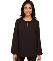 Karen Kane - Split Placket Tie Front Top