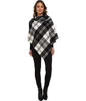 LAUREN by Ralph Lauren - Oversized Check Bridle Buckle Poncho