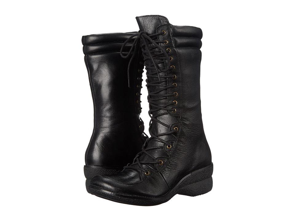 Miz Mooz Ophelia Black Womens Lace up Boots