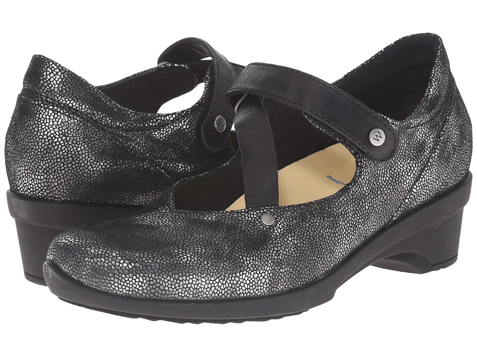 Wolky Georgia Black Caviar Womens Sandals