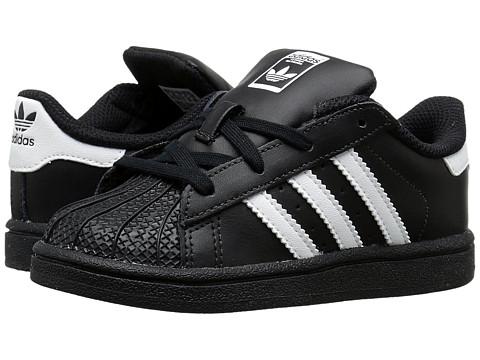 adidas Originals Kids Superstar Foundation (Toddler) - Black/White/Black