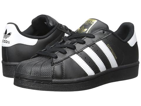 adidas Originals Kids Superstar - Foundation (Big Kid) - Black/White/Black