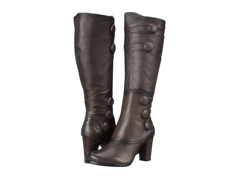 Miz Mooz Nicolette Grey Womens Zip Boots