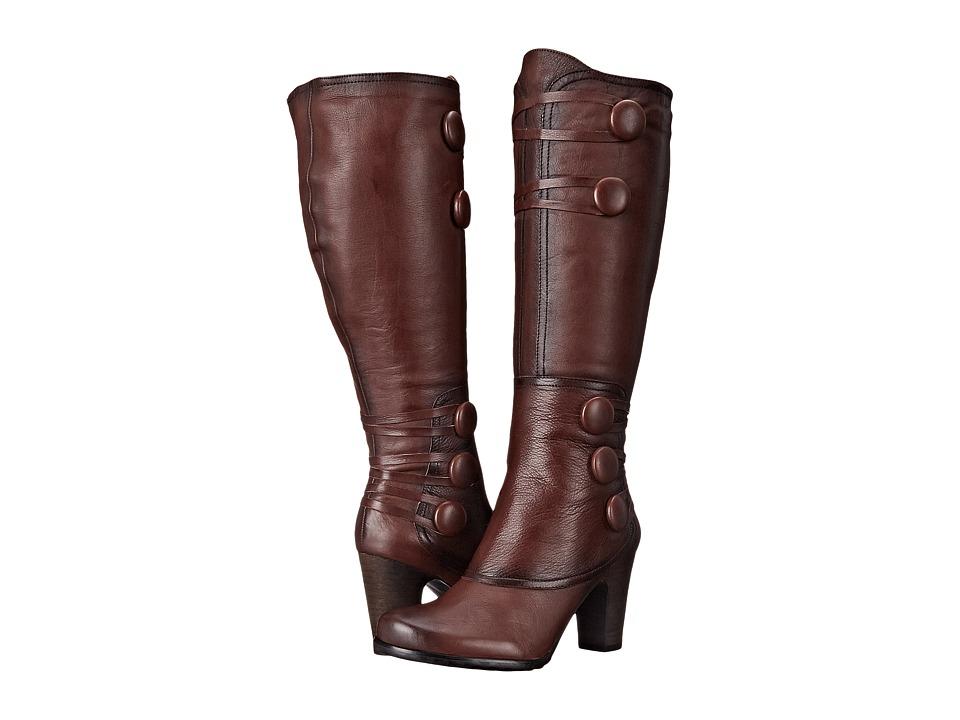 Miz Mooz Nicolette Brown Womens Zip Boots