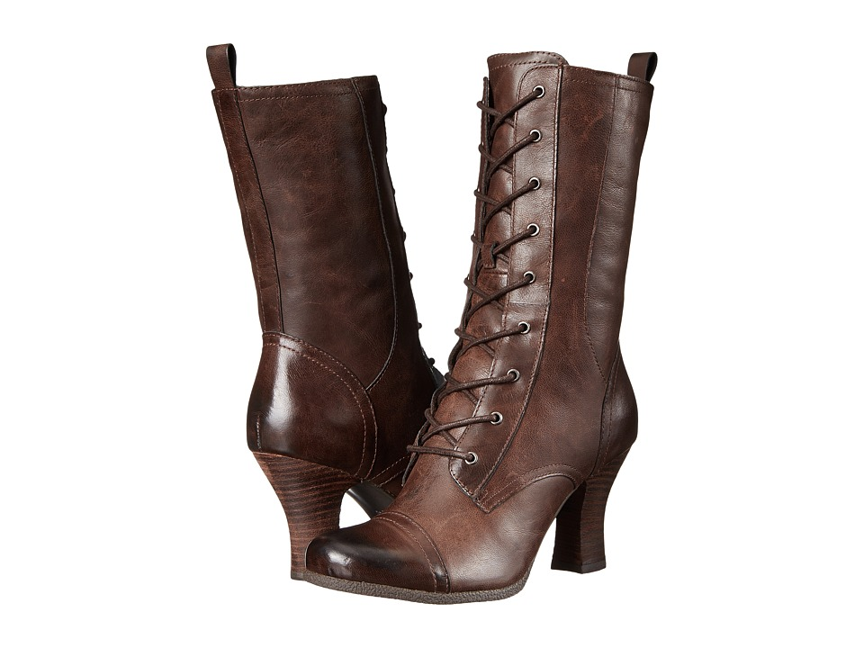 Miz Mooz - Kathleen Brown Womens Zip Boots $199.95 AT vintagedancer.com