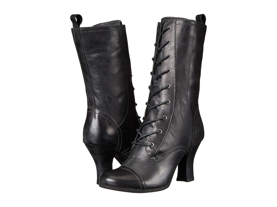 Miz Mooz - Kathleen Smoke Womens Zip Boots $199.95 AT vintagedancer.com