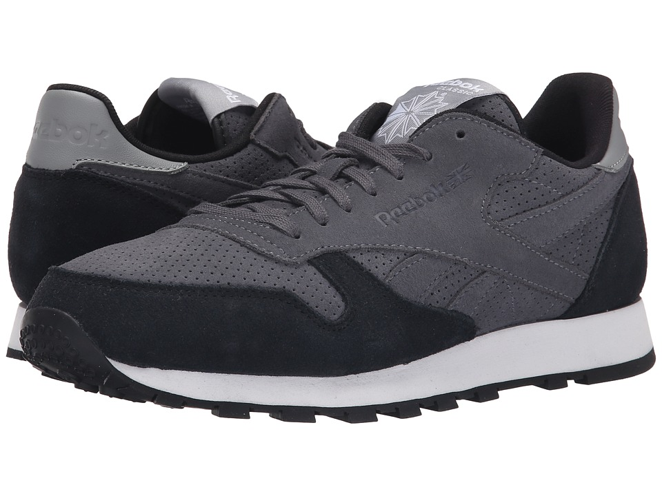 Reebok Lifestyle Classic Leather MP Soft Black/Black/Flat Grey/White Mens Shoes