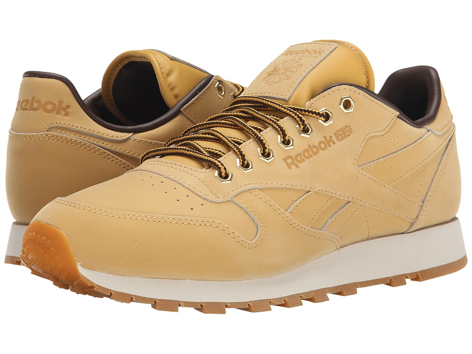 Reebok Lifestyle Classic Leather WP Wheat/Dark Brown Mens Shoes