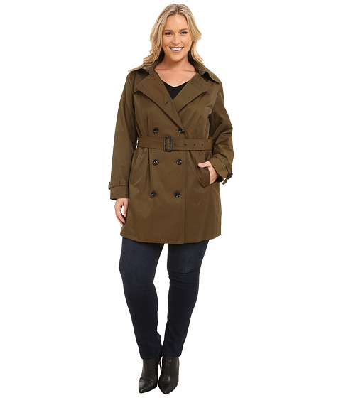MICHAEL Michael Kors Plus Size Double-Breasted Trench
