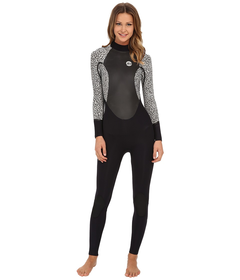 XCEL Wetsuits 4/3mm OS Axis Quickdry Full Suit Black/Ice Grey Womens Wetsuits One Piece