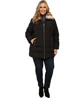 MICHAEL Michael Kors - Plus Size Zip Front Club Collar w/ Faux Fur