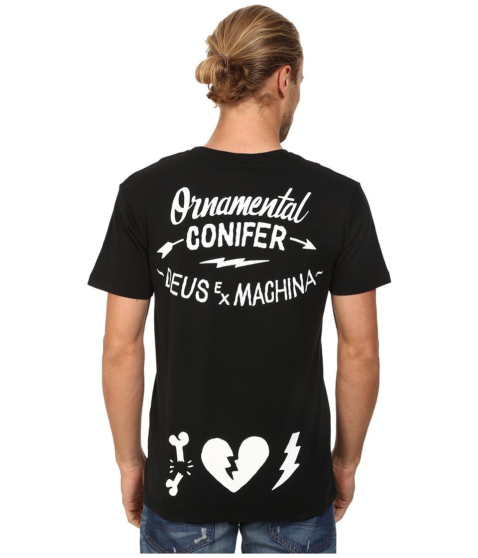 Deus Ex Machina Bone Heart Tee Black Mens T Shirt