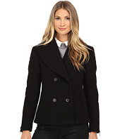 Nicole Miller - Double Breasted Peacoat with Shouler Detailing