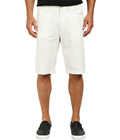 Kenneth Cole Sportswear - Flat Front Horizontal Stripe Shorts