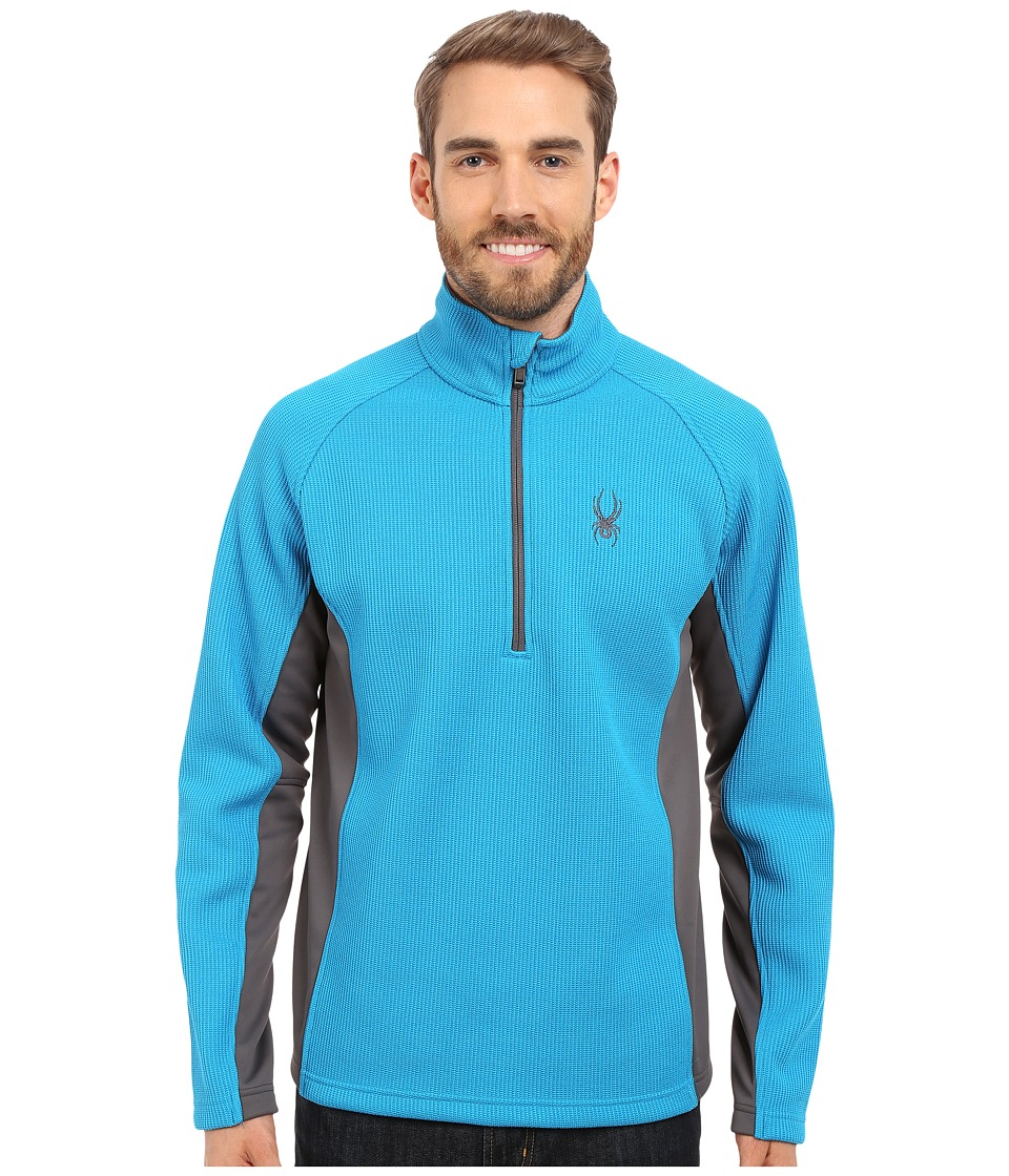 Spyder - Outbound Half Zip Mid Weight Core Sweater (Electric Blue/Polar/Polar) Men