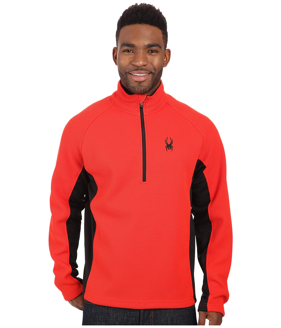 Spyder - Outbound Half Zip Mid Weight Core Sweater (Volcano/Black/Black) Men