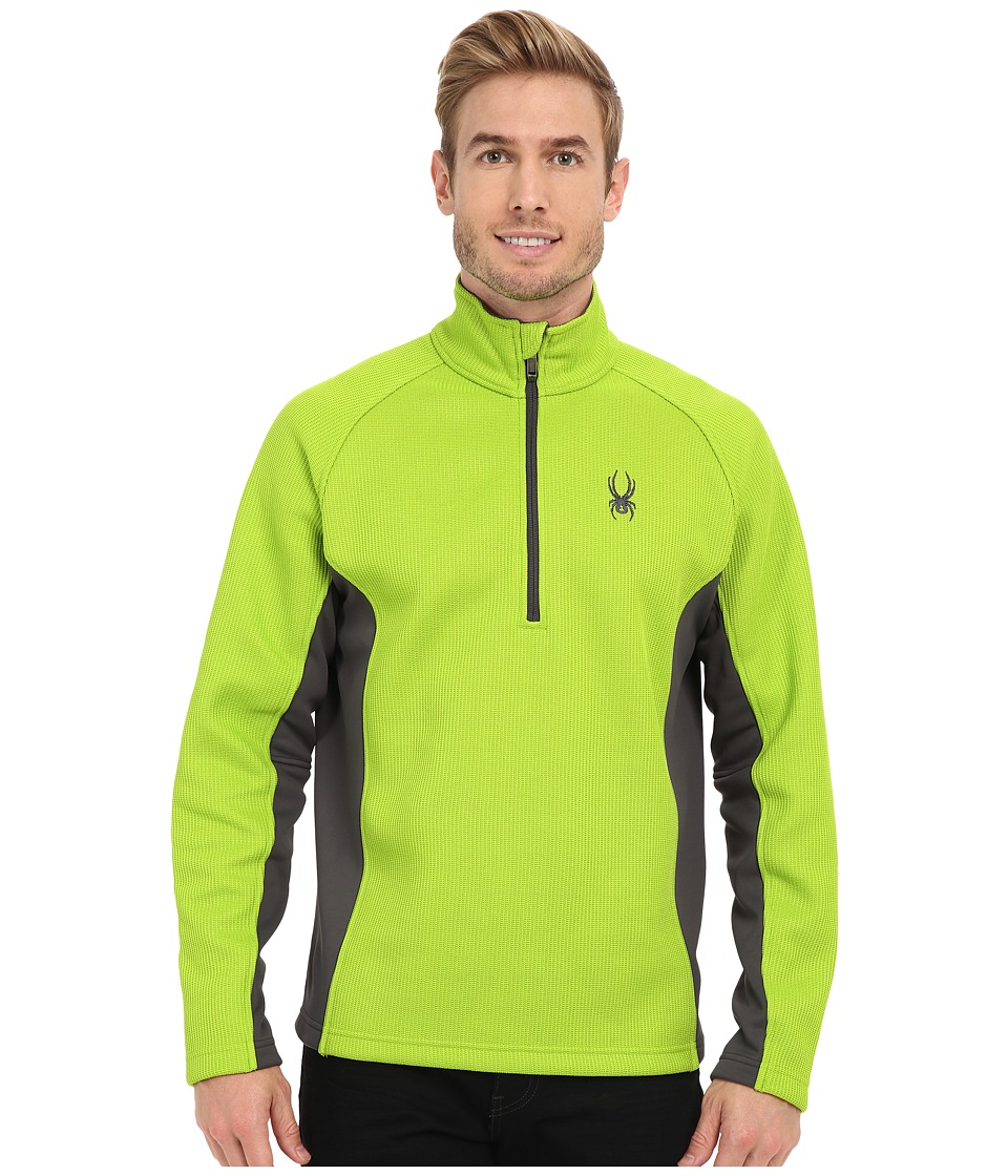 Spyder Outbound Half Zip Mid Weight Core Sweater (Theory Green/Polar/Polar) Men