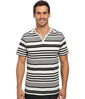 Kenneth Cole Sportswear - Short Sleeve Striped Henley
