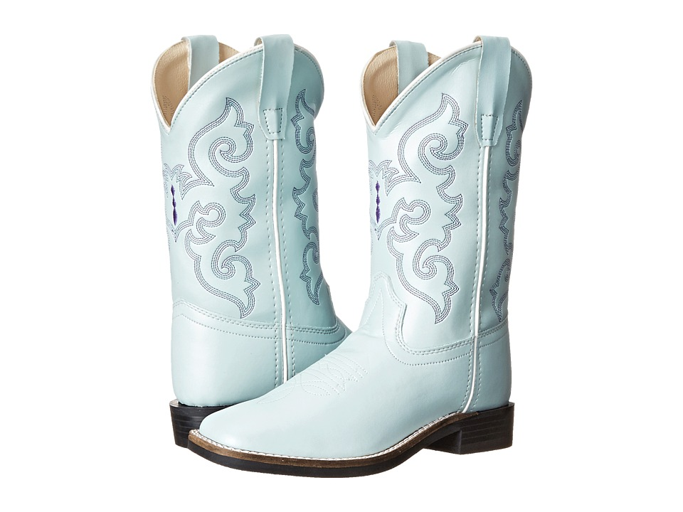 Old West Kids Boots Leatherette Western Boots Toddler/Little Kid Leatherette Sky Blue Cowboy Boots