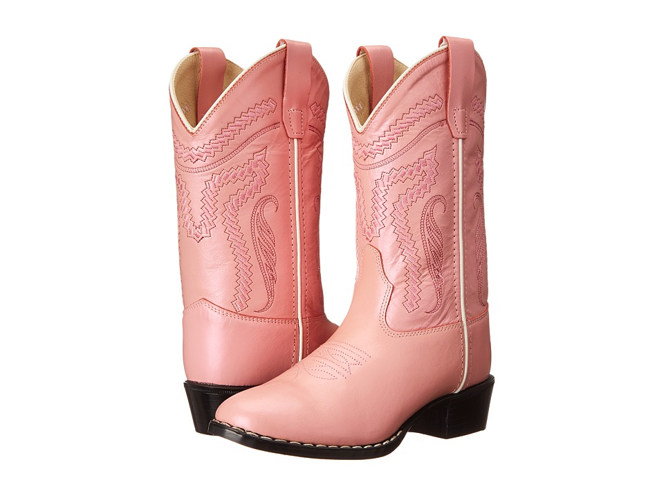 Old West Kids Boots Western Boots Toddler/Little Kid Silver/Pink Cowboy Boots