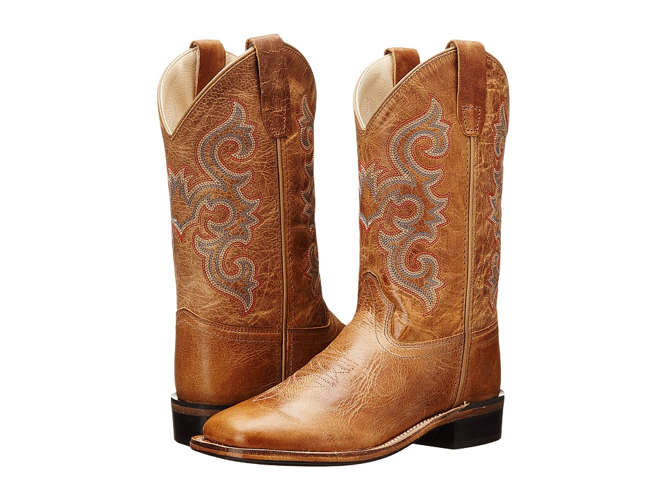 Old West Kids Boots Western Boots Toddler/Little Kid Tan Fry Cowboy Boots