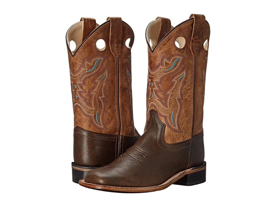 Old West Kids Boots Western Boots Toddler/Little Kid Brown Tumble/Tan Fry Cowboy Boots
