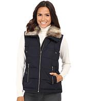 MICHAEL Michael Kors - Front Zip Down Vest w/ Faux Fur