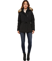 MICHAEL Michael Kors - Belted Heavy Down w/ Faux Fur Hood