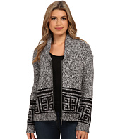 kensie - Fuzzy Mixed Media Cardigan KS0K5064