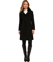 LAUREN Ralph Lauren - Cashmere Blend Belted Faux Fur Collar