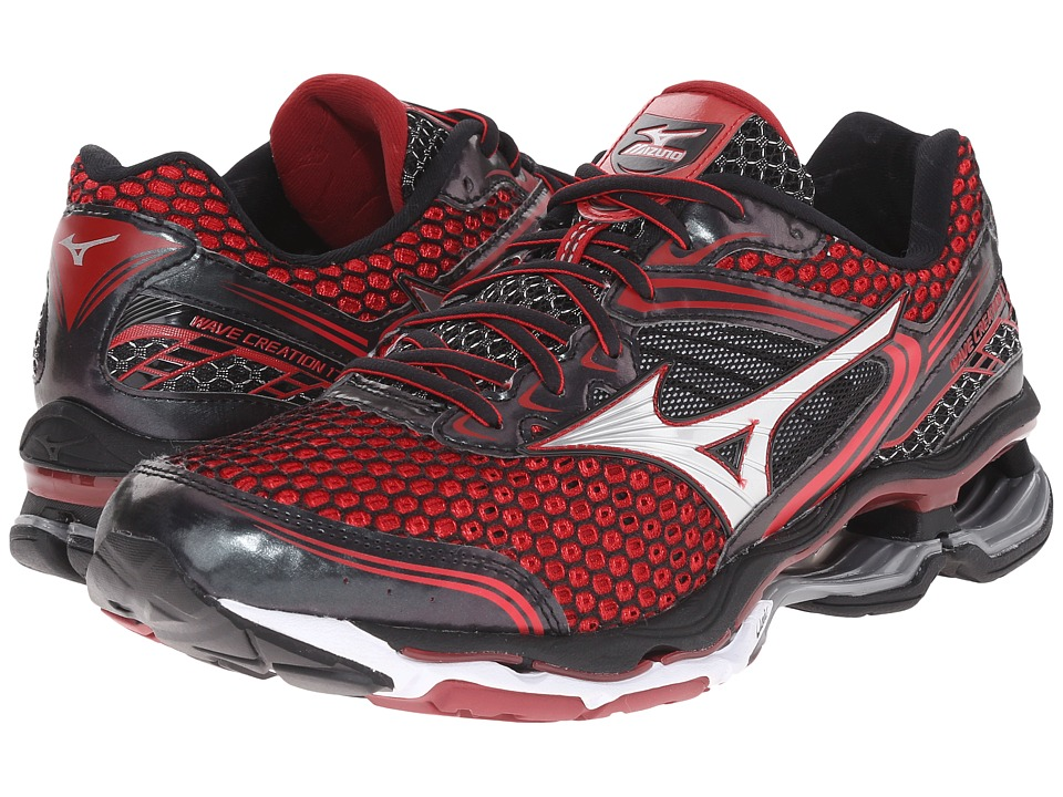 Mizuno Wave Creation 17 Chinese Red/Black/Red Dahlia Mens Running Shoes