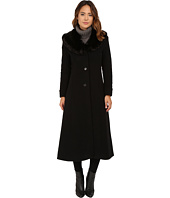 LAUREN by Ralph Lauren - Cashmere Blend Faux Fur Fit & Flare Maxi
